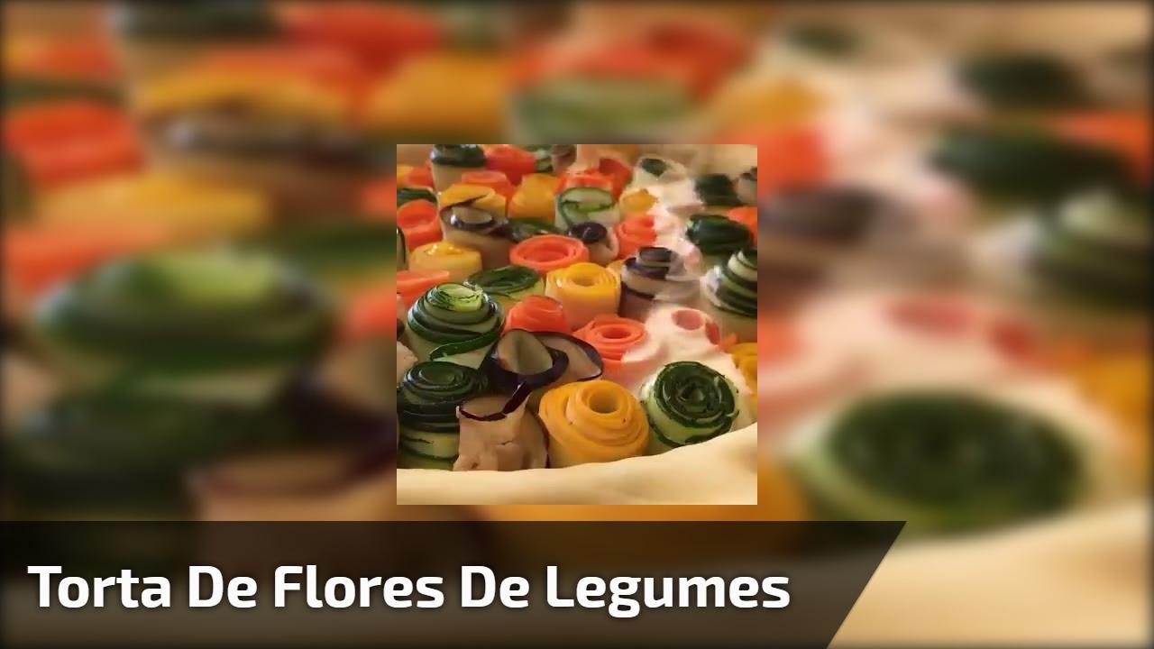 Receita de Torta de Flores de Legumes, super diferente e saborosa!