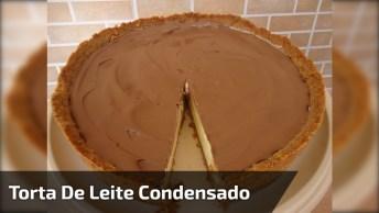 Receita De Torta De Leite Condensado Cremosa, Faça Com Apenas Ingredientes!
