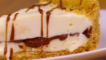 Receita De Torta De Leite Em Pó Com Creme De Avelã, Fica Uma Delicia!