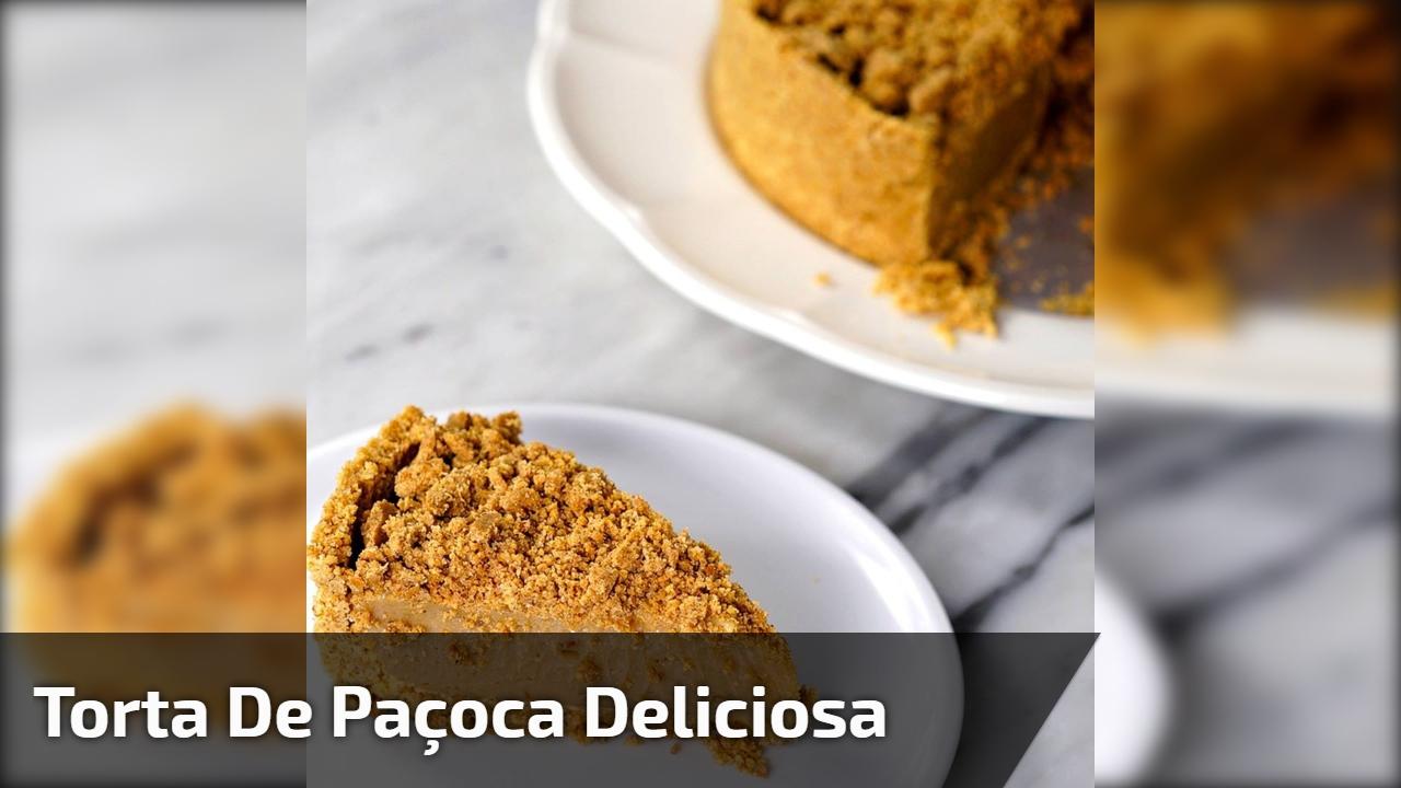 Receita de Torta de Paçoca, uma delicia de sobremesa, confira!