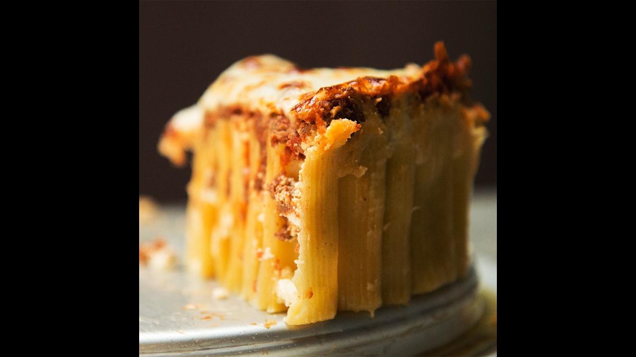 Receita de Torta de Rigatoni, simplesmente uma delícia, confira!