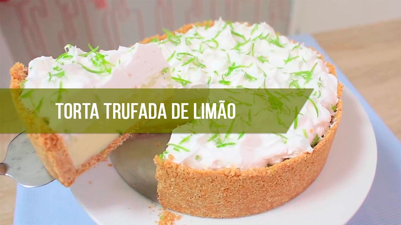 Receita de Torta Trufada de Limão