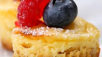 Receita De Tortinha De Limão, Olha Só Que Maravilha Esta Sobremesa!