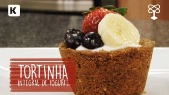 Receita De Tortinha Integral De Iogurte, Ótima Ideia De Sobremesa!