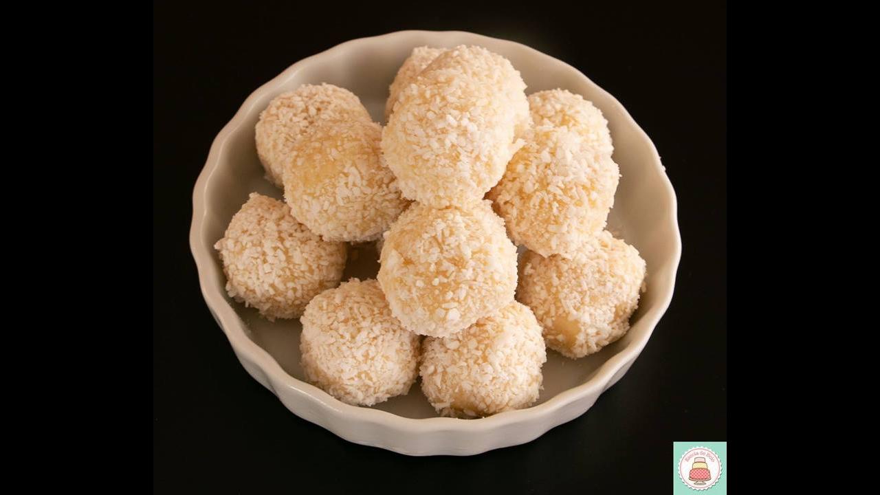 Receita de trufa de coco, fácil de fazer uma delicia de comer!!!