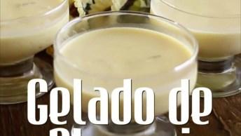 Receita De Verão Com Gelado De Abacaxi, Delicioso E Super Fácil!