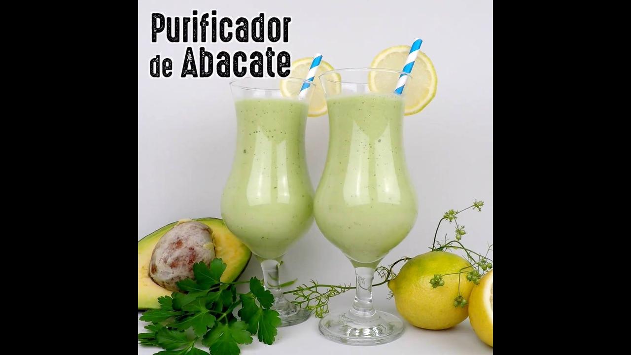 Receita de vitamina de abacate purificadora