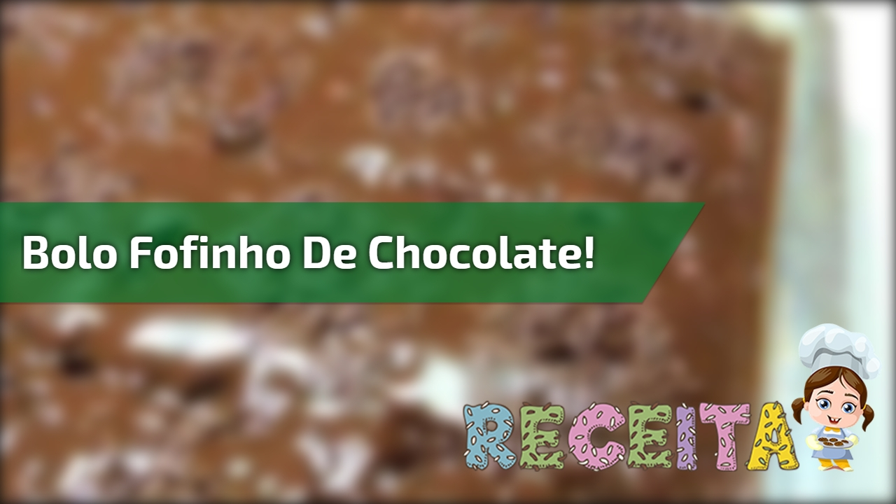 Receita e modo de preparo completo de bolo fofinho de chocolate!