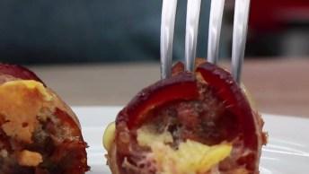 Receita E Modo De Preparo De Bolinho De Carne Moída Com Linguiça E Bacon!
