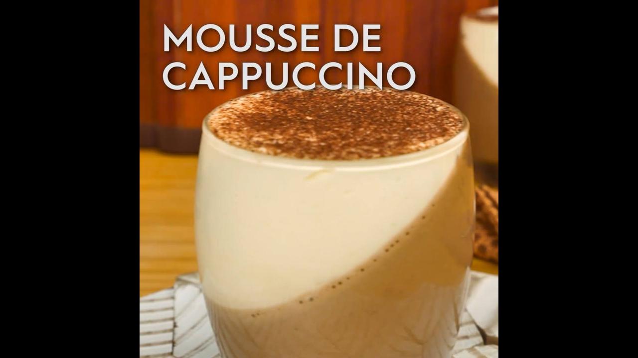 Receita e modo de preparo de Mousse de Cappuccino