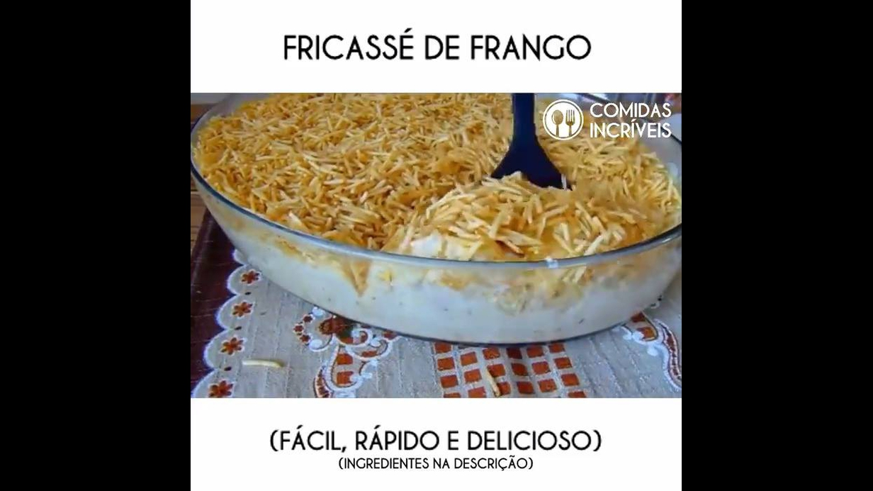 Receita fácil de Fricassê de Frango, um prato super gostoso de fazer!