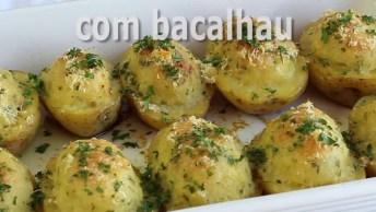 Receita Para O Almoço Da Páscoa - Batata Recheada Com Bacalhau!