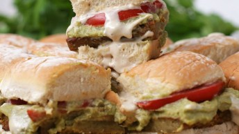 Receita Vegetariana De Hambúrguer De Falafel, Muito Bom, Confira!