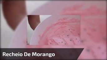 Recheio De Morango Com Chocolate Para Bolos E Tortas, Fica Uma Delicia!