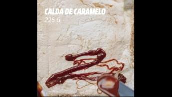 Rocambole De Banana Com Calda De Caramelo E Chocolate Meio Amargo Por Cima!
