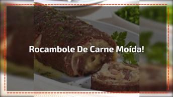 Rocambole De Carne Moída - Você Vai Amar O Resultado Dessa Receita!