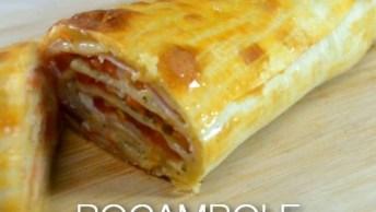 Rocambole De Pastel Sabor Pizza, Uma Delicia Super Fácil De Fazer!
