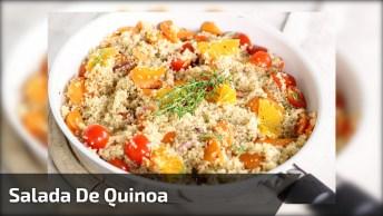 Salada De Quinoa, Uma Receita Saudável Para Você, Confira!