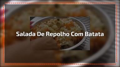 Salada De Repolho Com Batata, Uma Ideia Bem Fácil De Fazer!