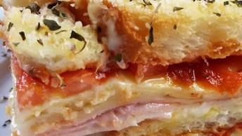 Sanduíche De Forno, Uma Opção Deliciosa Para Servir No Lanche Da Tarde!