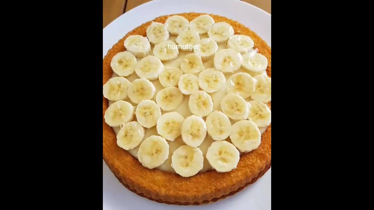 Sobremesa de banana, super fácil de fazer e fica uma delicia