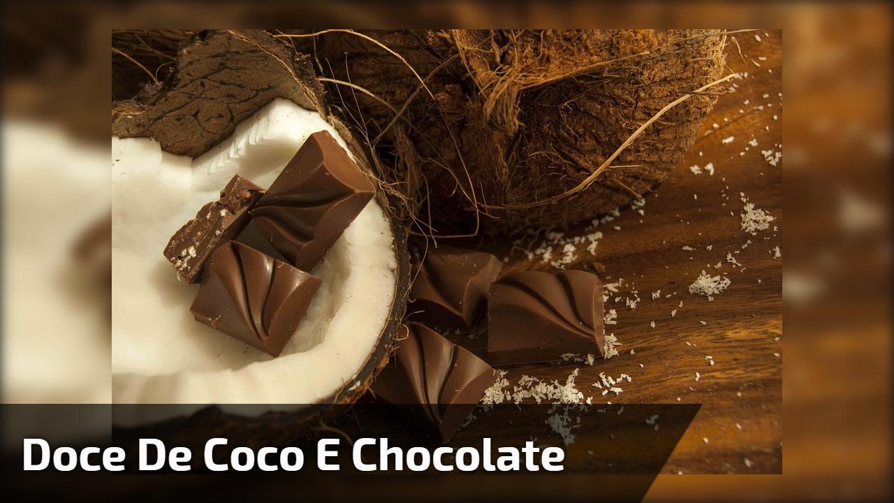 Doce de coco e chocolate