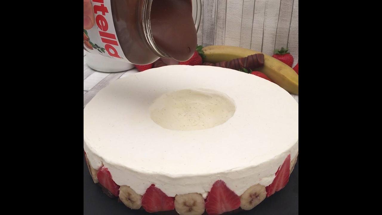 Sobremesa de Natal, um bolo gelado com Nutella maravilhoso