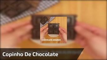 Sobremesa Servida No Copinho De Chocolate, Mais Uma Para A Sua Coleção!