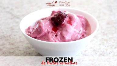 Sorvete Caseiro De Frutas Vermelhas, Uma Sobremesa Congelante!