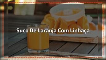 Suco De Laranja Com Linhaça, Para Auxiliar No Emagrecimento!