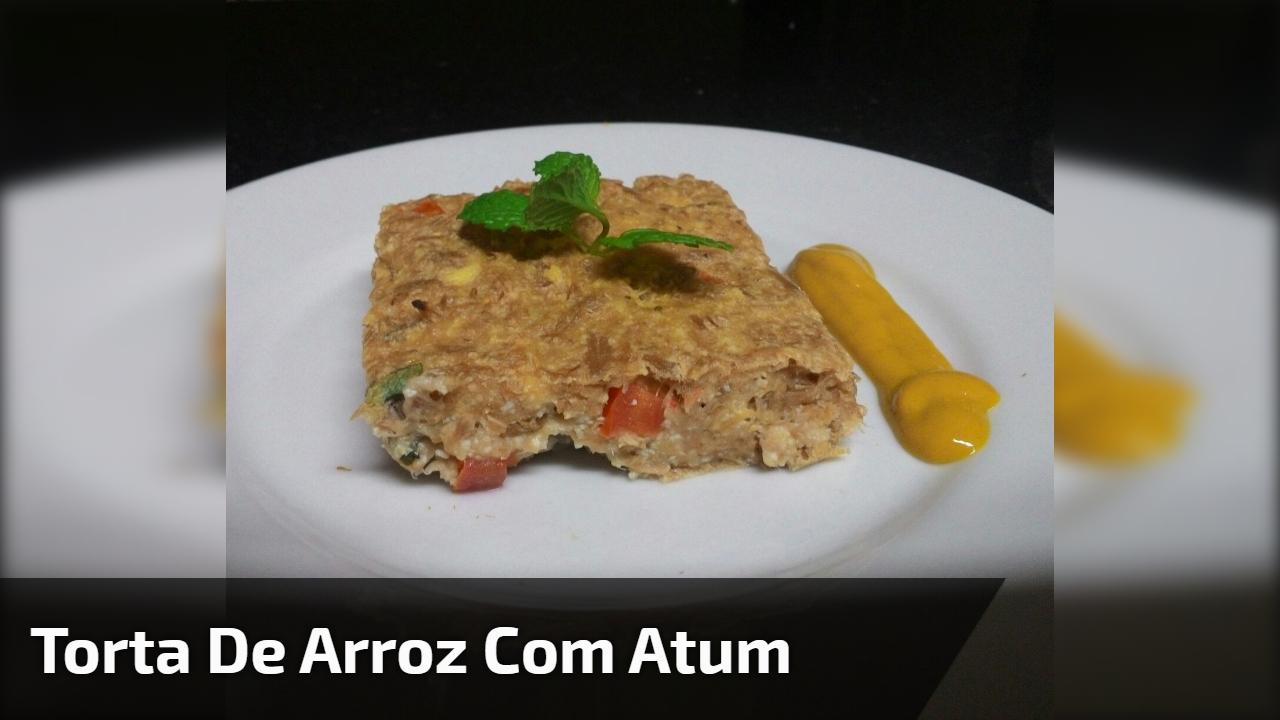 Torta de Arroz com atum