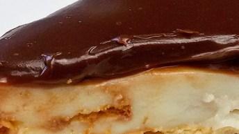 Torta De Bolacha De Chocolate, Uma Boa Pedida Para O Almoço Dominical!