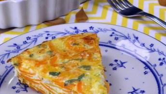 Torta De Cenoura Em Camadas, Uma Receita Saudável E Fácil De Preparar!