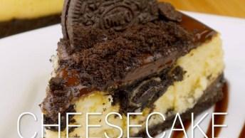 Torta De Cheesecake Com Biscoito, Uma Sobremesa Fácil De Fazer!