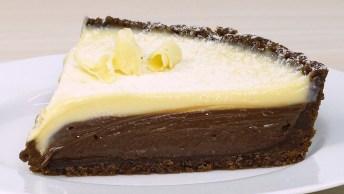 Torta De Três Chocolates, Todos Sabores Em Uma Só Receita!