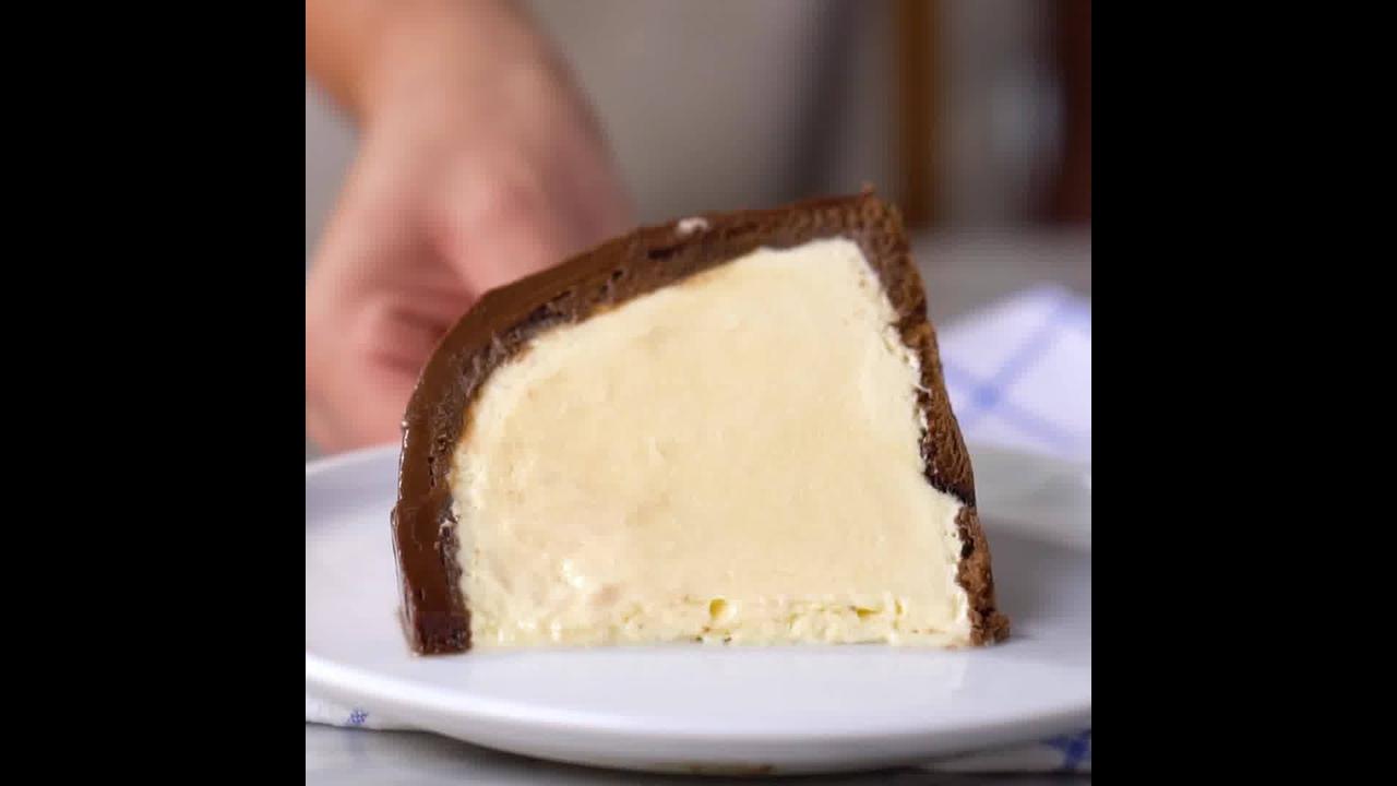 Torta Gelada de Mousse de Maracujá