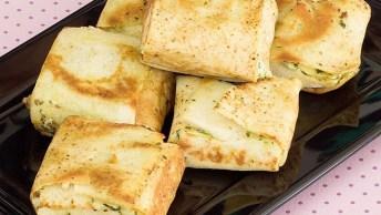 Trouxinhas De Pão Pita Recheados Com Carne E Maionese Verde!