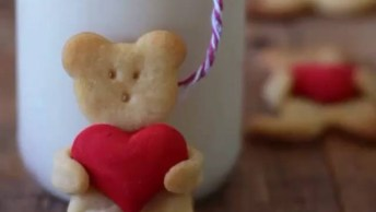 Ursinho Com Coração Comestível, Uma Ideia Para O Dia Dos Namorados!