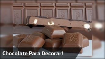 Várias Dicas De Como Usar O Chocolate Para Decorar Bolos E Tortas!