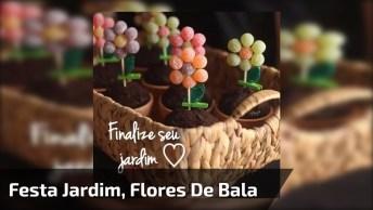 Vasinhos De Flores Com Tema Festa Jardim, Fica Muito Fofo, Confira!