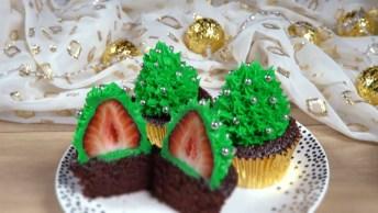Vídeo Com Ideia De Cupcakes Para O Natal, Olha Só Que Lindinho!