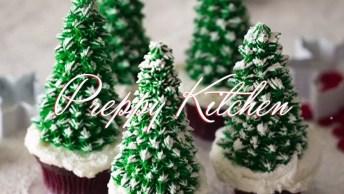 Vídeo Com Ideias De Decoração Para Cupcake De Natal, Olha Só Que Fofo!