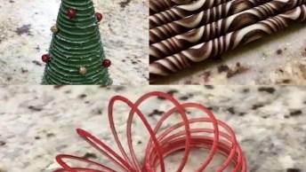Vídeo Com Inspirações De Confeitos Em Cupcake Para O Natal!