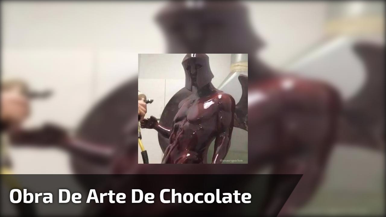 Obra de arte de chocolate