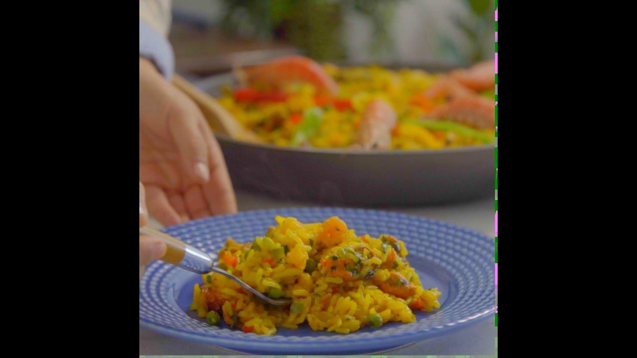 Video com Receita de Paella