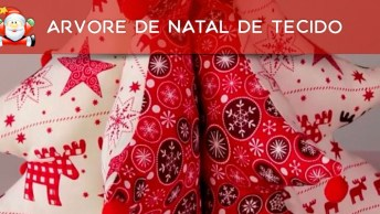 Tutorial De Árvore De Natal De Tecido Com Enchimento, Simplesmente Perfeita!