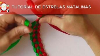 Tutorial De Estrelas Natalinas Para Decorar Sua Casa No Natal!