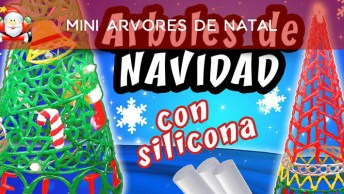 Tutorial De Mini Arvores De Natal Feitas Com Cola De Silicone!