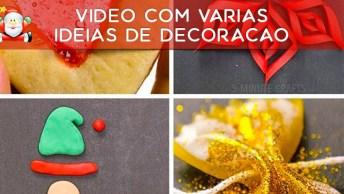 Vídeo Com Várias Ideias De Decoração Para Sua Árvore De Natal!