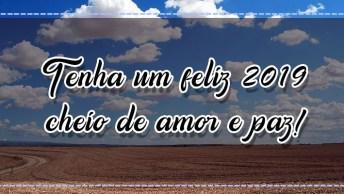 Vídeo De Mensagem De Feliz Ano Novo. Tenha Um Feliz 2019 Cheio De Amor E Paz!